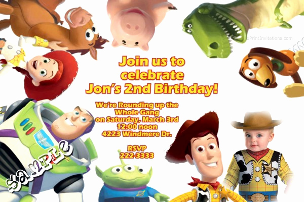 Toy Story Invitation Template Download Unique toy Story 3 Fun Birthday Invitations