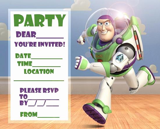 Toy Story Invitation Template Elegant Buzz Lightyear Birthday Invitations Ideas – Bagvania Free