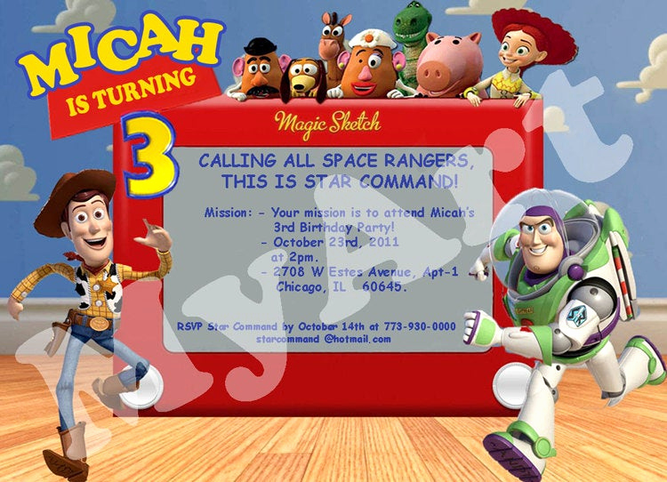 Toy Story Invitation Template Free Beautiful toy Story Birthday Invitation