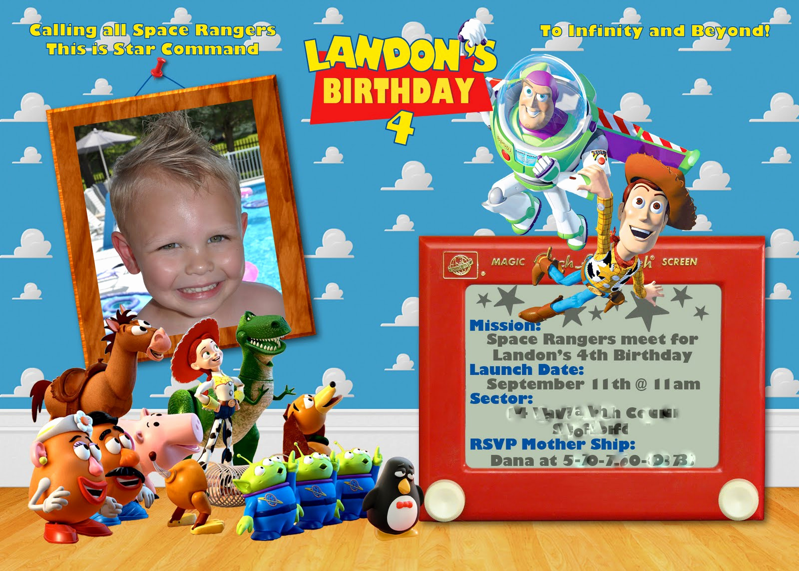 Toy Story Invitation Template Free Best Of 40th Birthday Ideas toy Story Birthday Invitation