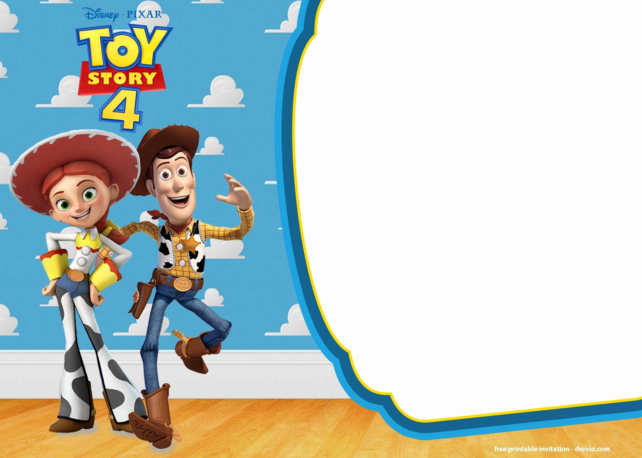 Toy Story Invitation Template Free Best Of Free Printable toy Story 4 Invitation