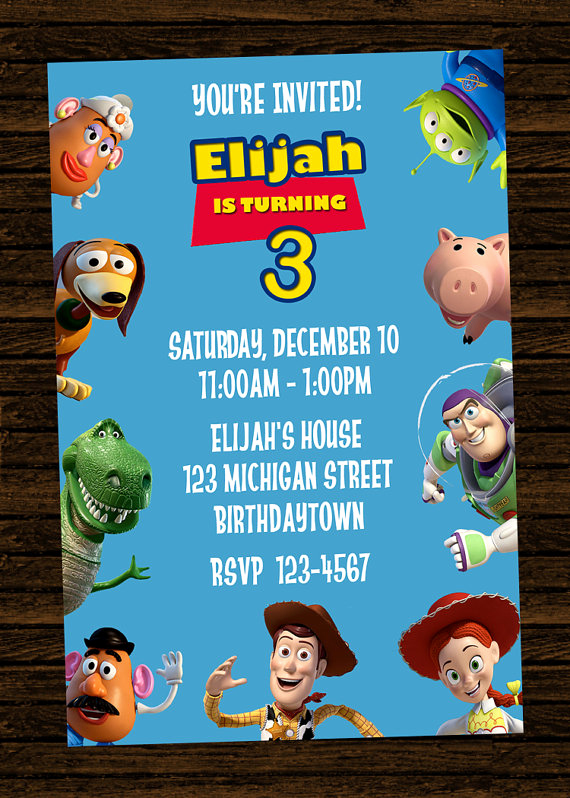 Toy Story Invitation Template Free Best Of Free Printable toy Story Birthday Party Invitations