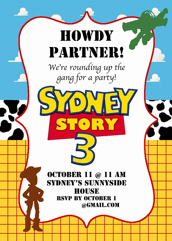 Toy Story Invitation Template Free Lovely toy Story Birthday Party Ideas