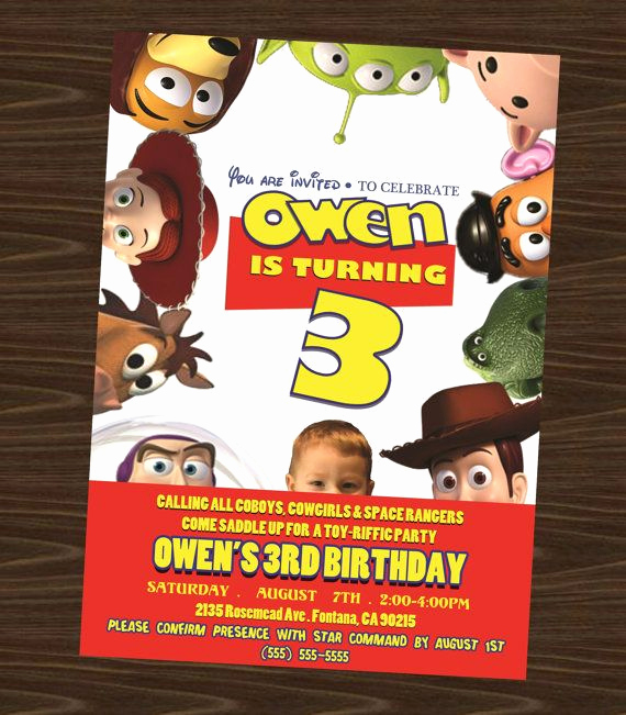 Toy Story Invitation Template Free Unique Free Printable toy Story Birthday Invitations