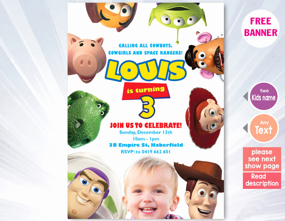 Toy Story Invitation Template Free Unique toy Story Invitation Template toy Story Birthday Party