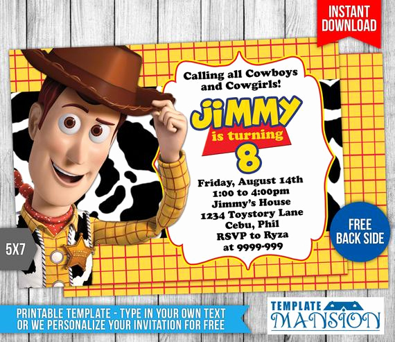 Toy Story Invitation Template Inspirational toy Story Invitation toy Story Birthday by Templatemansion