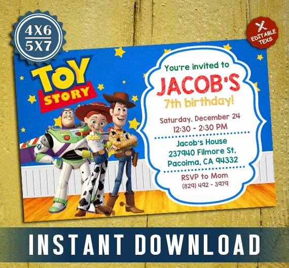 Toy Story Invitation Template Luxury Best 25 toy Story Invitations Ideas On Pinterest