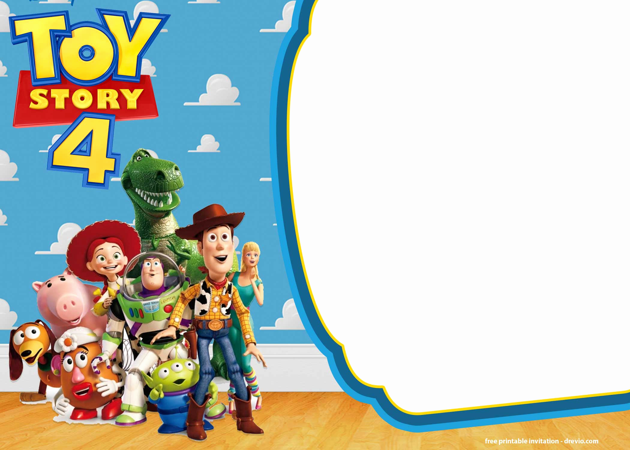 Toy Story Invitation Template Luxury Free Printable toy Story 4 Invitation Templates