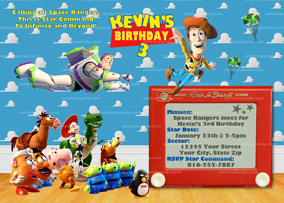 Toy Story Invitation Template Luxury Printable toy Story Invitation Buzz Lightyear Invitation toy