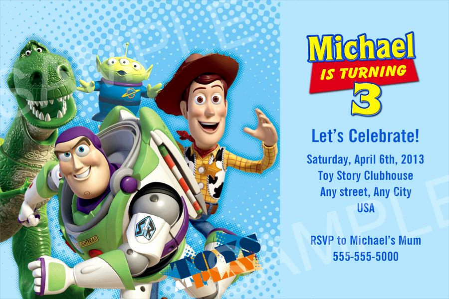 Toy Story Invitation Template New Nice Free Template Personalized toy Story Birthday