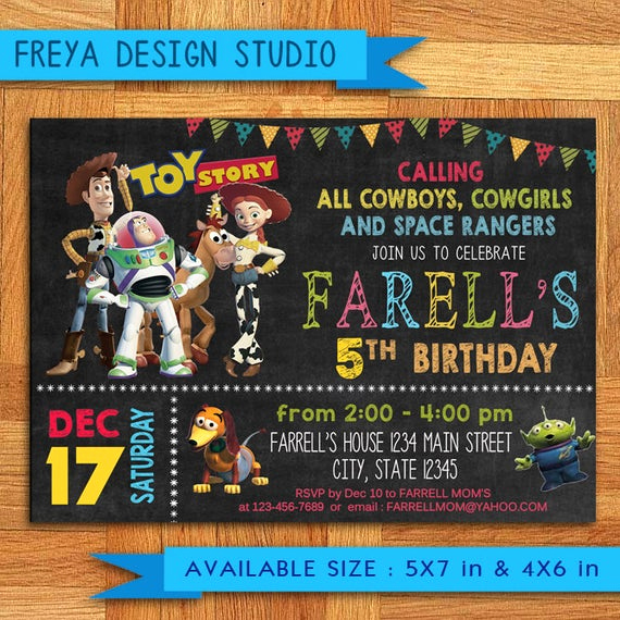 Toy Story Invitation Template New toy Story Invitation toy Story Invites toy Story Birthday