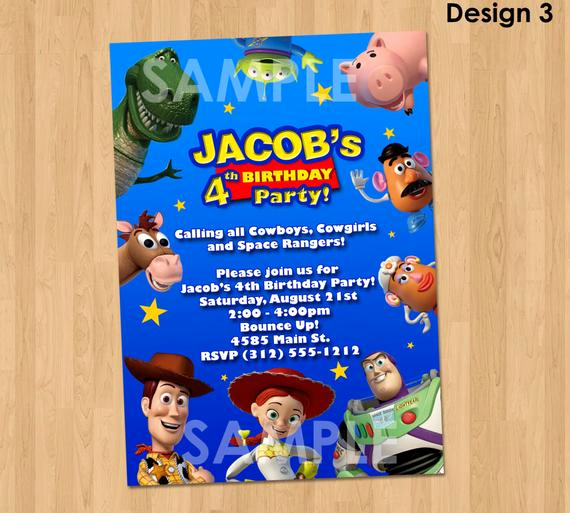 Toy Story Invitation Templates Awesome toy Story Invitation toy Story Party Invite Custom