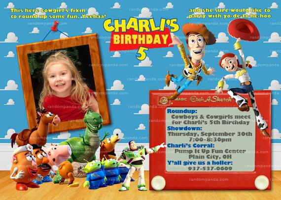 Toy Story Invitation Templates Beautiful Personalize toy Story Invitation Woody Invite Jessie