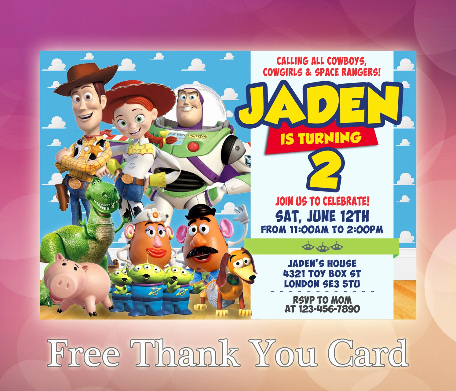Toy Story Invitation Templates Free Beautiful toy Story Invitation toy Story Birthday Invitation toy