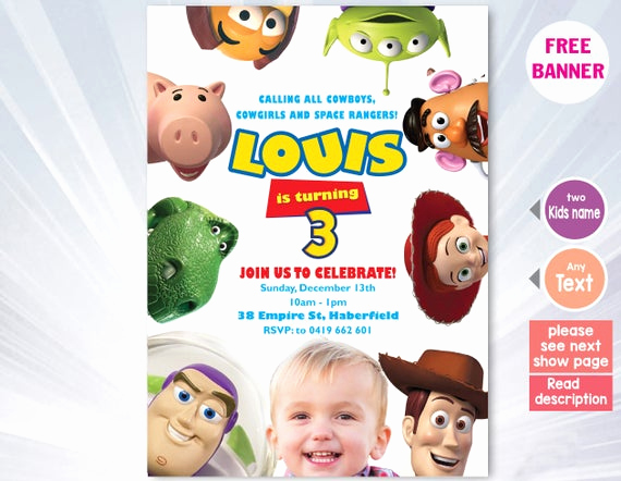Toy Story Invitation Templates Free Best Of toy Story Invitation Template toy Story Birthday Party