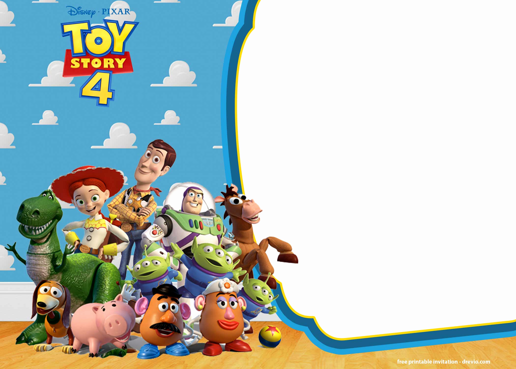Toy Story Invitation Templates Free Lovely Free Printable toy Story 4 Invitation Templates