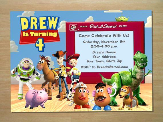 Toy Story Invitation Templates Free Luxury toy Story Birthday Invitation Digital File by Squigglesdesigns