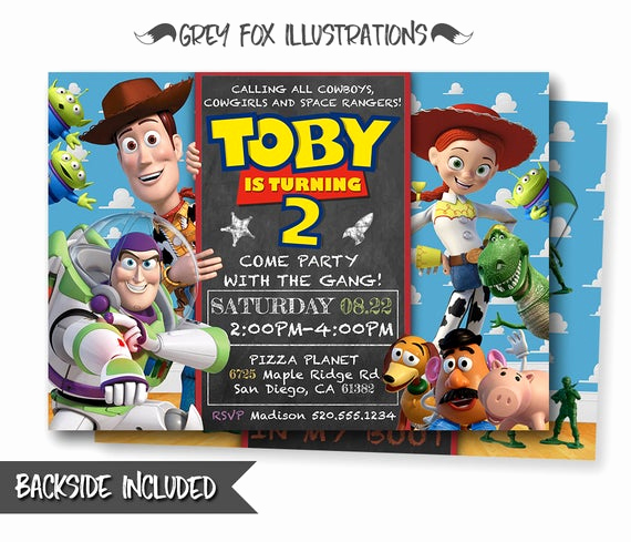 Toy Story Invitation Templates Free Unique toy Story Invitation toy Story Invite Disney Pixar toy Story