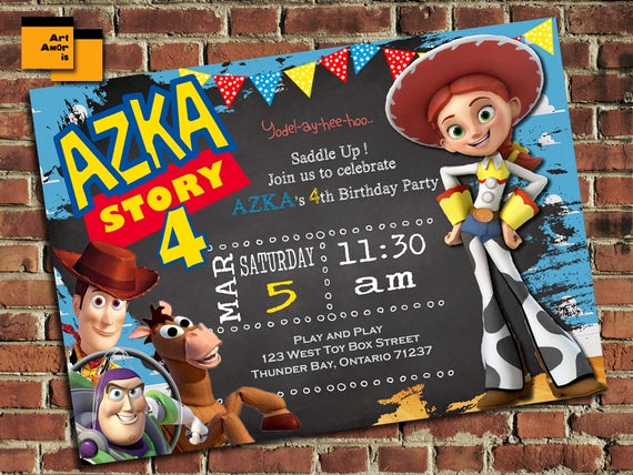 Toy Story Invitation Templates Lovely toy Story Birthday Invitation toy Story Birthday Invite