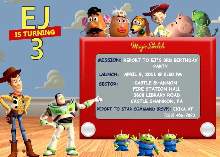 Toy Story Invitation Templates Lovely toy Story Birthday Party Invitation