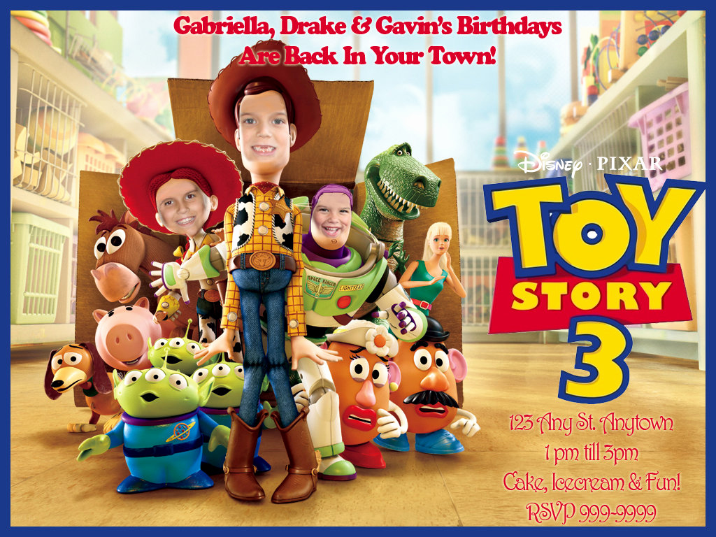 Toy Story Invitation Templates Luxury toy Story Birthday Invitations Ideas – Bagvania Free