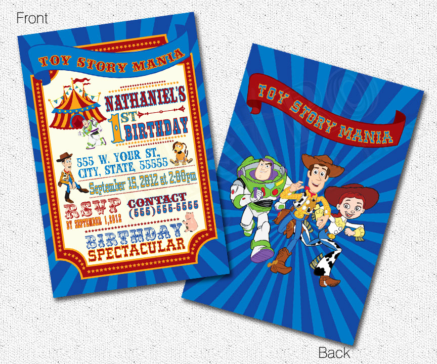 Toy Story Invitation Templates Luxury toy Story Invitations toy Story Invites toy Story Carnival