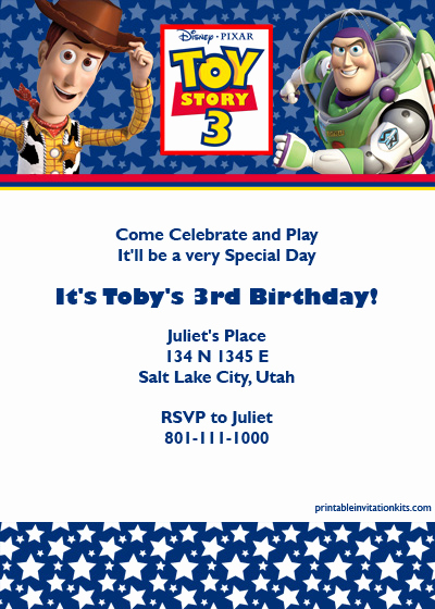 Toy Story Invitation Templates New toy Story 3 Birthday Invitation ← Wedding Invitation