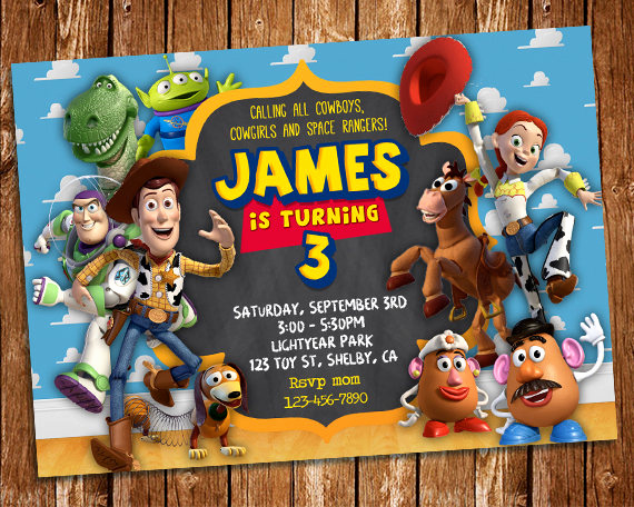 Toy Story Invitation Templates Unique toy Story Invitation toy Story Printable Birthday Invitation