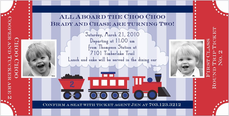 Train Ticket Birthday Invitation Beautiful Train Invitation Template