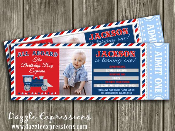 Train Ticket Birthday Invitation Elegant Printable Train Ticket Birthday Invitation Boys Choo