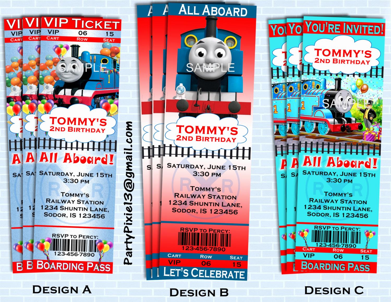 Train Ticket Birthday Invitation Inspirational Thomas the Train Party Invitations Ticket by
