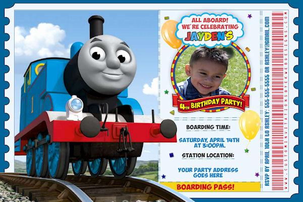 Train Ticket Birthday Invitation Lovely attractive Thomas the Train Birthday Invitation Ideas