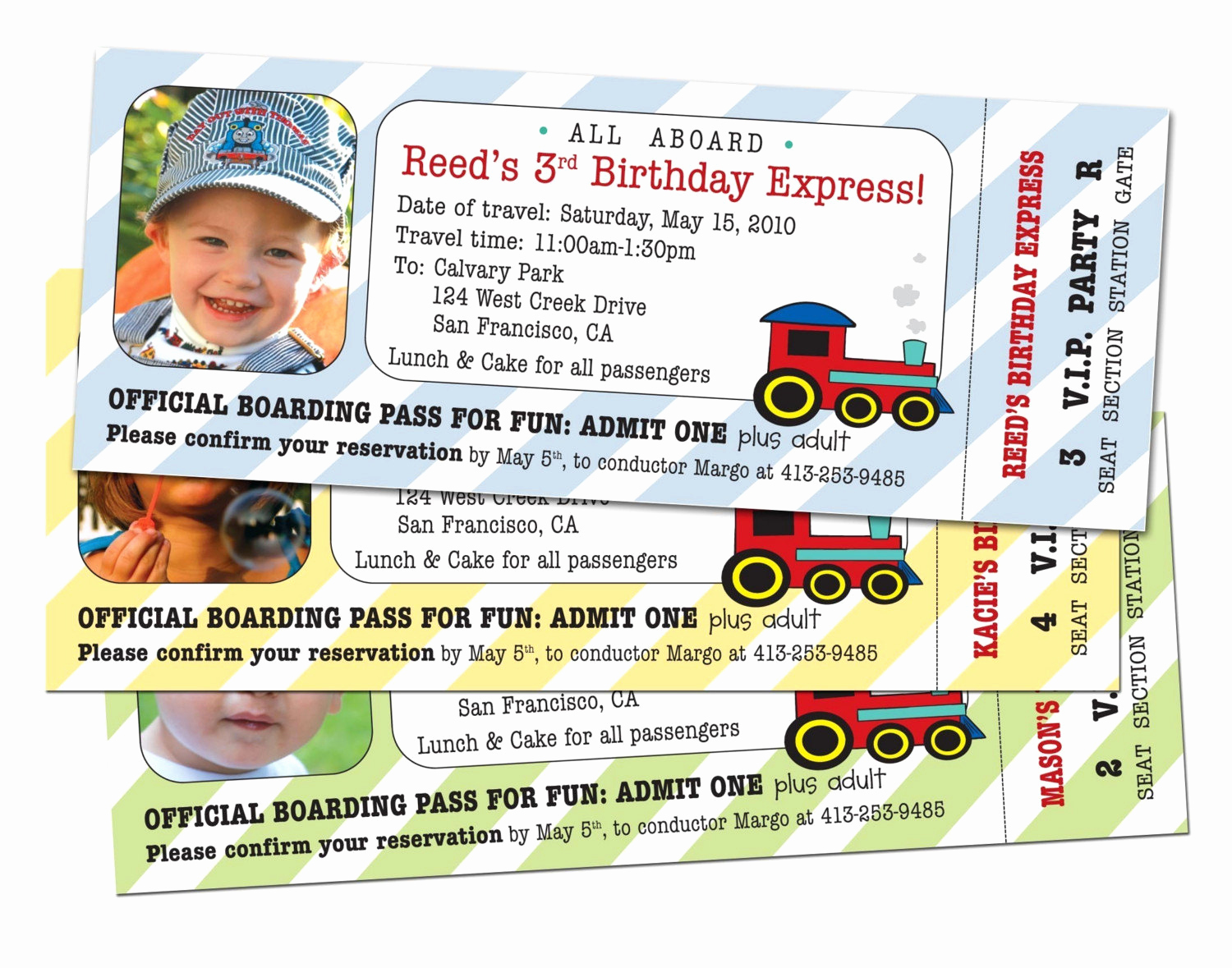 Train Ticket Birthday Invitation Luxury 15 Train Ticket Party Invitations Customized and Printed for