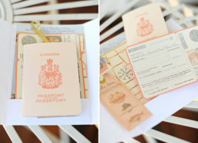 Travel theme Wedding Invitation Awesome Real Wedding Charlotte Dave's Australian Wedding