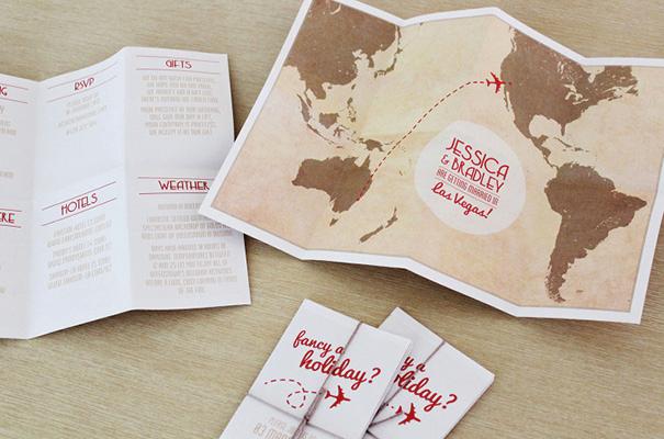 Travel theme Wedding Invitation Beautiful Kolorowe Inspiracje Ślubne Ślub Tematyczny Podróż