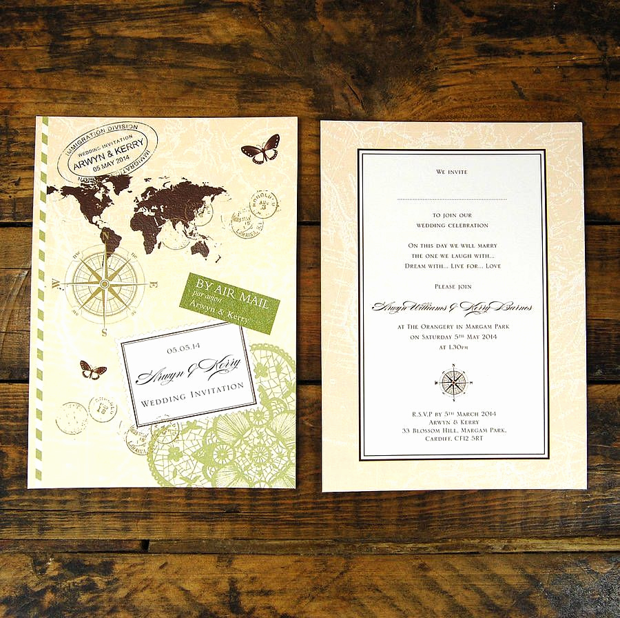 Travel theme Wedding Invitation Best Of Travel theme Invite Mini Wedding Pinterest