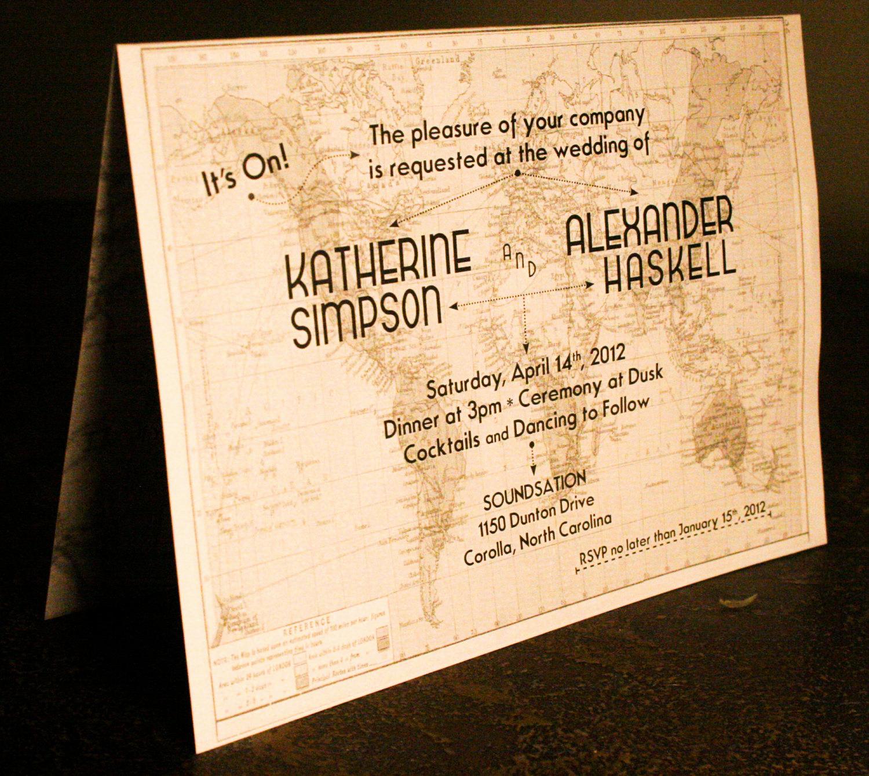 Travel theme Wedding Invitation Fresh Vintage Travel themed Wedding Invitation & Paperie by