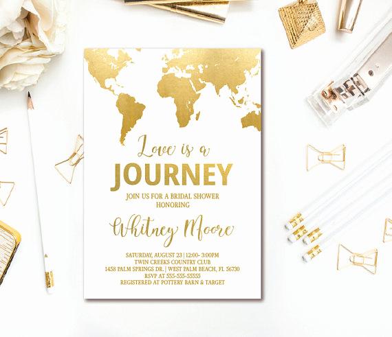 Travel theme Wedding Invitation Inspirational Travel Bridal Shower Invitations & Decor Ideas