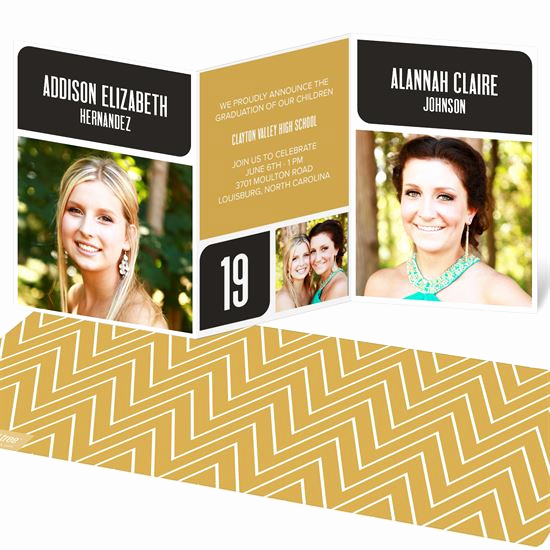 Tri Fold Graduation Invitation Awesome Trifold Graduation Announcements
