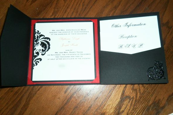 Tri Fold Graduation Invitation Fresh Our Diy Tri Fold Invitations Wedding Black Diy