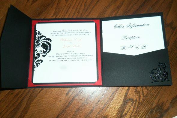 Tri Fold Graduation Invitation Fresh Our Diy Tri Fold Invitations Wedding Black Diy