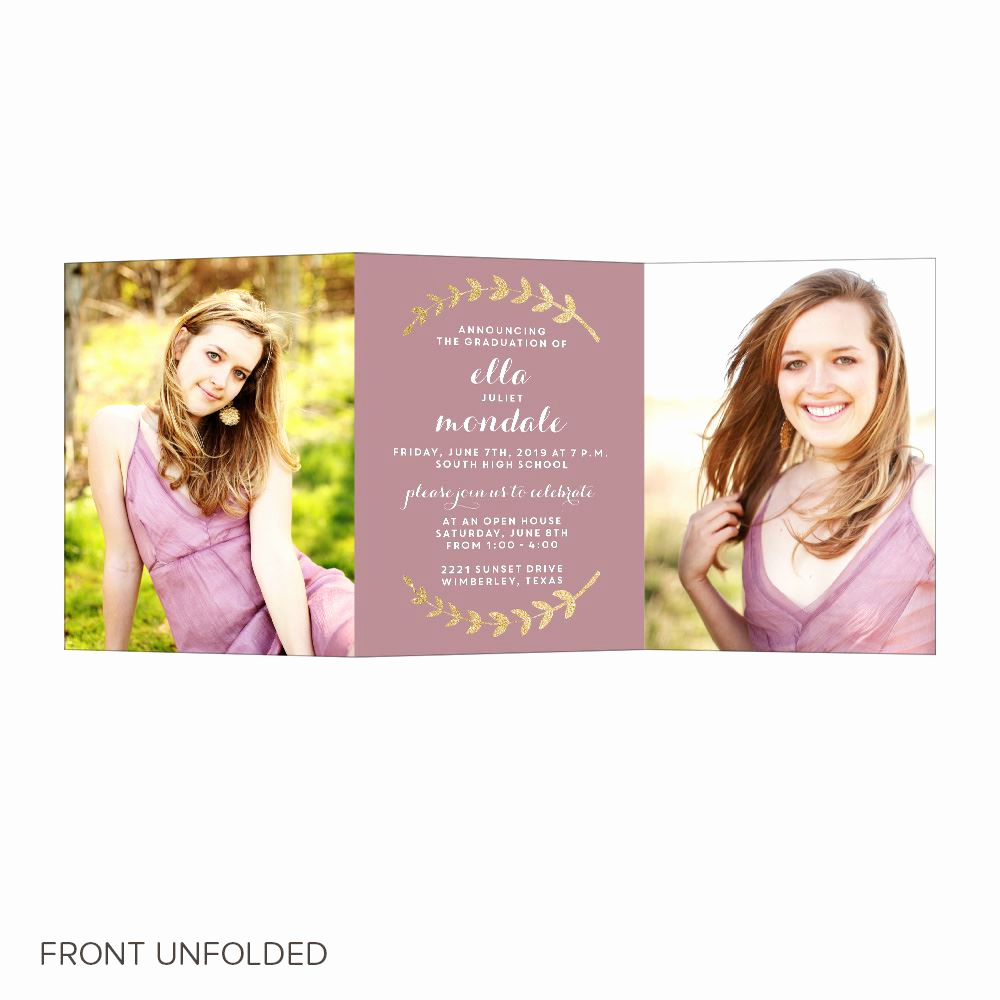 Tri Fold Graduation Invitation Inspirational Well Schooled Trifold Graduation Announcements