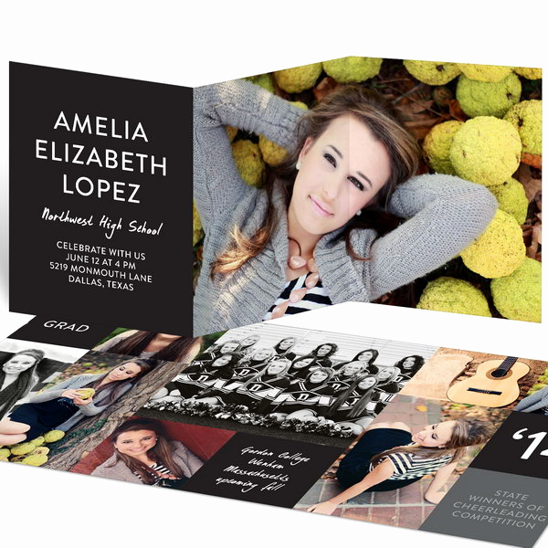 Tri Fold Graduation Invitation Luxury 25 Creative Graduation Announcement Ideas Hative