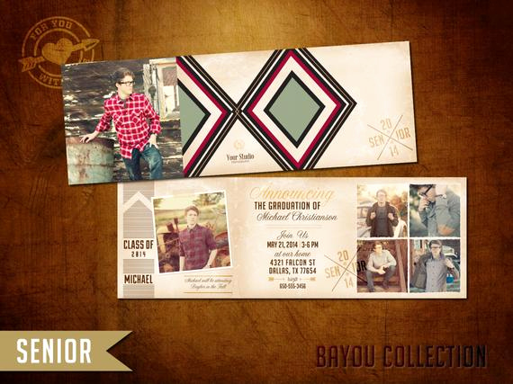 Tri Fold Graduation Invitation Templates Beautiful 5x5 Tri Fold High School Senior Graduation Announcement by