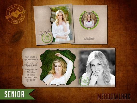 Tri Fold Graduation Invitation Templates Best Of 5x5 Tri Fold High School Senior Graduation Announcement by