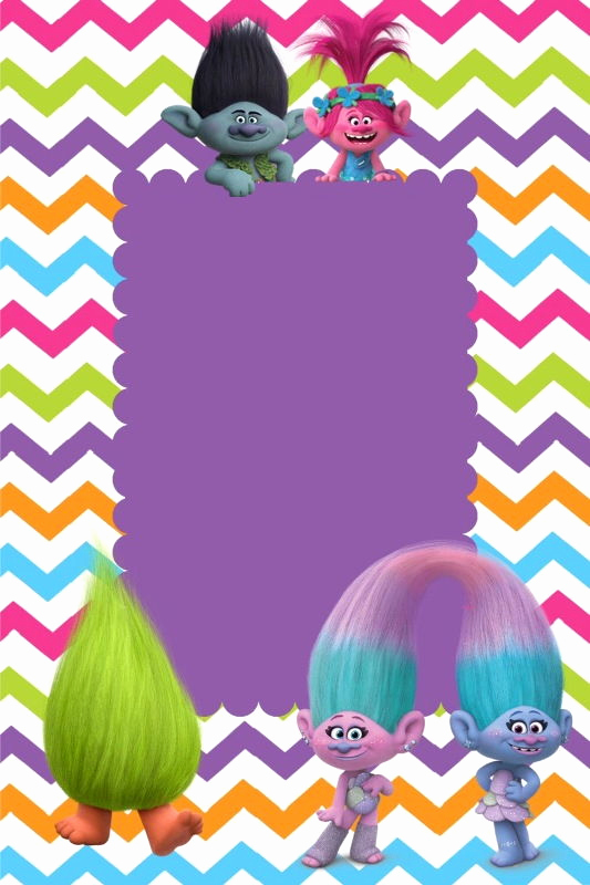 Trolls Invitation Template Free Awesome Birthday Party Invitation for Calling All Trolls