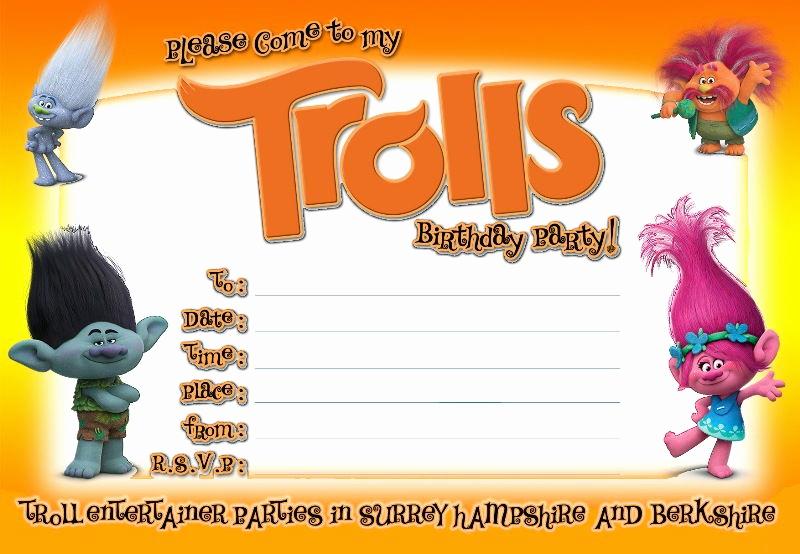 Trolls Invitation Template Free Beautiful Free Printable Trolls Invitation Template