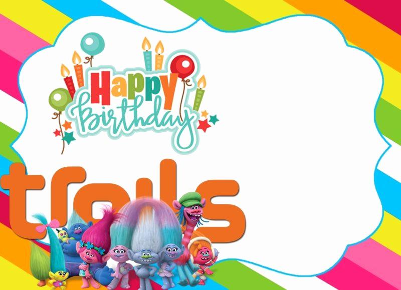 Trolls Invitation Template Free Best Of 16 Free Printable Trolls Invitation Templates