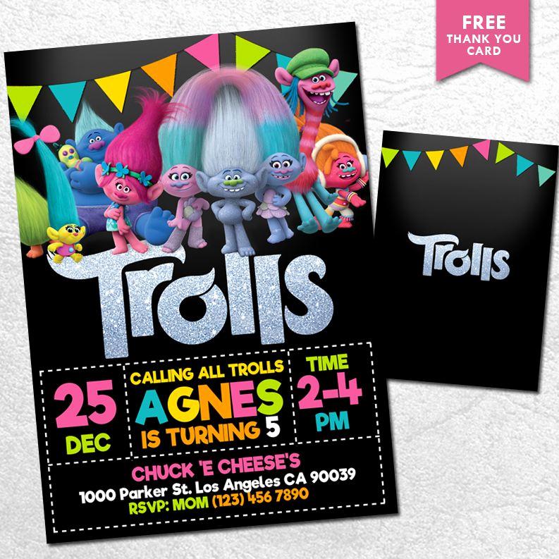 Trolls Invitation Template Free New Printable Trolls Invitation Download