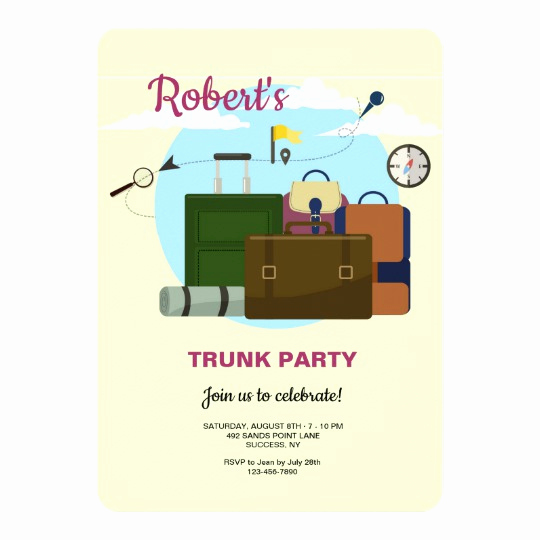 Trunk Party Invitation Templates Inspirational College Bound Trunk Party Invitations